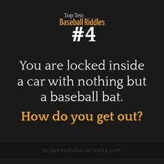 Top ten baseball riddles.