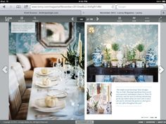 Foyer tablescape
