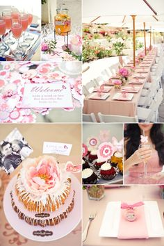 Bridal Shower - Pink Pink Pink - Bundt Cake - Wedding Planning Ideas