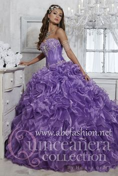 House of Wu Quinceanera Dress Style 26727 is made for Quinceanera girls who want to look like a beautiful Princess on her special day with its lovely design. Made out of Organza, this quinceanera gown