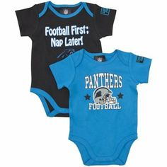 Gerber Carolina Panthers Infant 2-Pack Bodysuit Onesie Set - Panther Blue Black  Panthers 1fa119e94