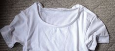 How to change to neckline of a crew neck tee with a professional looking finish. I was working on some maternity tees for my storeand it got me thinking I should do a DIY post about neckline alter…