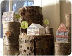 Letterpress Paper House KitChandler Lane by 1canoe2 on Etsy
