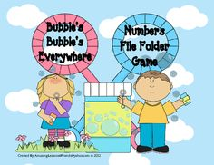 Bubbles Bubbles Every Where Numbers File Folder game from AmazingLessons4Friends on TeachersNotebook.com -  (9 pages)  - Bubble's Bubble's  Every Where Number File Folder Game
