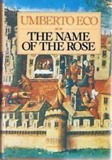 VINTAGE HARDBACK The Name Of The Rose by Umberto Eco 1980