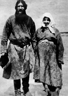 #Rasputin Grigori Jefimovitsj and his wife Paraskeva Feodorovna