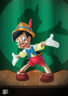 DeviantArt: More Like Pinocchio by Thorvold Walt Disney, Disney Magic, Disney Art, Disney Pixar, Pinocchio, Disney Dream, Disney Love, Panther, Blue Fairy