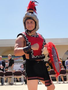 The Aztec Warrior -- team mascot for San Diego State University (SDSU)...