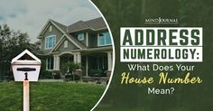 Address Numerology: What Does Your House Number Mean? 1 House Number, House Numerology, Cv Words, House Address, Number Meanings, Palm Reading, Spirit Science, Palmistry, Good House