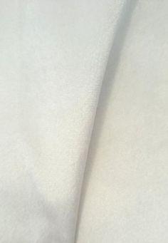 Tecido veludo Branco Rubi 01  tecido