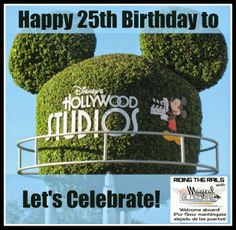 Celebrating Hollywood Studios 25th Birthday with a linkup. A look at what makes the Hollywood Studios great and a place to share your favorite Hollywood Studio posts.