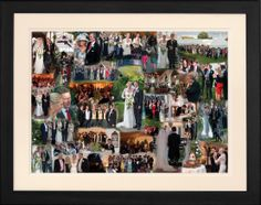 Our wedding day is supposed to be the most important day of our lives! Celebrate it every day with a photo collage.