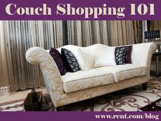 Rent.com's guide to purchasing your first couch. #apartment #decor
