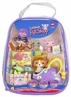 Amazon.com: Littlest Pet Shop Sweet 'N Neat Pets Sets (includes dog, monkey, mouse, turtle, and lots of accessories): Toys & Games