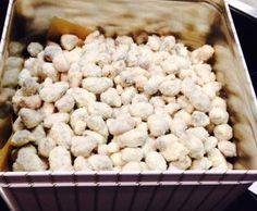 Gebrannte Mandeln mit weißer Schokolade und Kokos