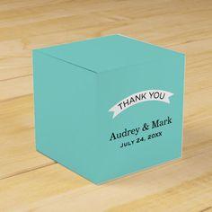 Wedding Favor Container | Aqua Blue Favor Box