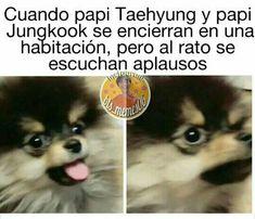 no me traumen al niñooooooo hahahahha Memes Bts Español, Vkook Memes, Funny Memes, Bts 2018, Taekook, K Pop, Kim Book, Bts Facts, Les Bts