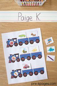 Printable Transportation Beginning Sounds Game for Preschool and Kindergarten