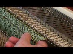KR 230 filati grossi foretti e maglie riprese - YouTube Loom Knitting Stitches, Knitting Machine, Knit Crochet, Golf, Tejidos, Wave, Polo Neck