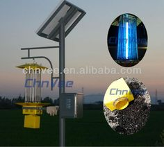 new product 15W Solar Insect ultraviolet solar mosquito killer light with pole manufacturing $1~$300