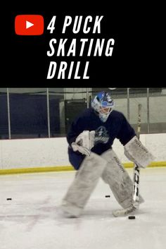 This is a simple 4 puck skating drill that should be a staple for ANY level of goaltender. Hockey Drills, Hockey Goalie, Ice Hockey, Hockey Training, Football Players, Skating, Nhl, Hockey Stuff, Goals