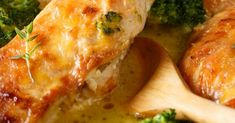Baked Chicken With Herb Butter Sauce
