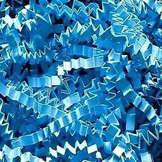Custom and Unique {6 Ounces} of Crinkle Cut Shredded Gift Basket Filler Paper Made From Cardstock w/ Cool Aqua Tone Simple Basic Decorative Crimped Strand Winter Design (Bright Blue) -- Find out more about the great product at the image link.