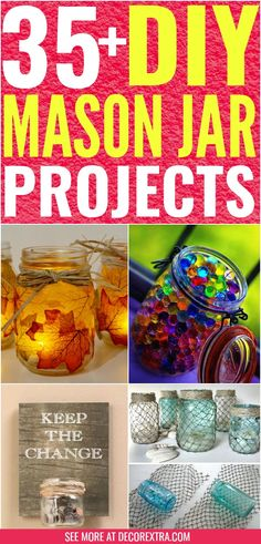 Amazing DIY Mason Jar Projects You Must See - Mason Jar Crafts - DIY Mason Jar Ideas - Crafts to Make and Sell You'll love these beautiful mason jar crafts. Discover ways to craft with mason jars! Diy Projects To Sell, Crafts To Make And Sell, Arts And Crafts Projects, Pot Mason Diy, Mason Jars, Mason Jar Projects, Mason Jar Crafts, Diy Hacks, Pots