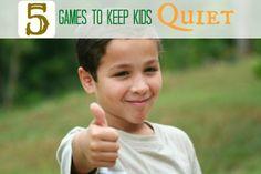 Fun games to keep kids quiet---no shushing needed!