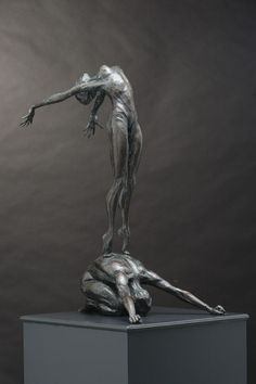 Bronze Abstract Dance / Dancer Sculpture By Sculptor Keith Calder Titled:  U0027Conception   Artwork View 2