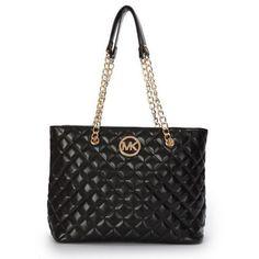 Michael Kors Quilted Large Black Shoulder Bags $69.99 Unbelievable !