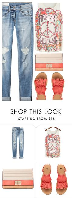 """""""make art, not war !!!!"""" by ecem1 ❤ liked on Polyvore featuring rag & bone and Melie Bianco"""