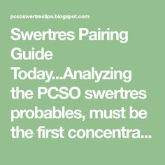 Swertres Tips Hearing Probables Combination Strategies