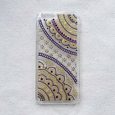 Phone Case Hand Painted Drawn Gold Violet Henna Mandala Art iPhone 6 Case iPhone 6s plus clear Samsung Galaxy S7 Note 4 5 LG A9 Sony Xperia by SnowHennaArt on Etsy https://www.etsy.com/hk-en/listing/272236734/phone-case-hand-painted-drawn-gold