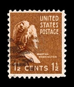 U.S postage stamp - circa 1938: portrait of Presidential First Lady Martha Washington