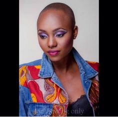 Thank you Beautiful Baldie @goddessofskillz for helping us to show the world how beautiful BALD really is #thebaldmovement