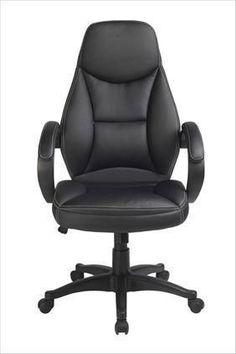 Decorar una zona de estudio. Silla Office tapizada de diseño ergonómico, muy confortable gracias a su respaldo alto, brazos tapizados, y regulable en altura.
