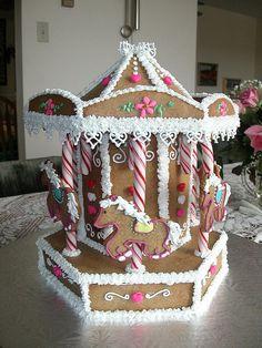 Carousel Gingerbread Cake . . .