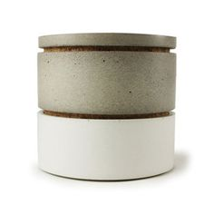 Cemented Two-Tone Stacking Salt Cellars