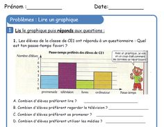 Banque de résolution de problèmes Math Exercises, 2nd Grade Math, Grade 2, Teaching French, Lus, Kids Learning, Bar Chart, Periodic Table, School