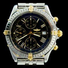 BREITLING-CROSSWIND CHRONOMAT Or et acier, etat excellent. Montre d'occasion, joaillerie royale. http://www.joaillerie-royale.com/73-montre-occasion-breitling
