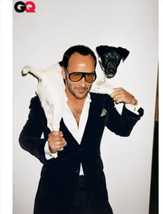 Tom Ford and his dog, GQ November 2004. Photographer Terry Richardson