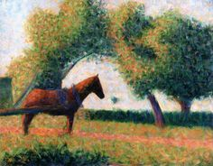 The Harnessed Horse - Georges Seurat