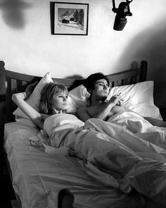 Alain Delon and Marianne Faithfull in The Girl on a Motorcycle (1968)