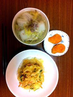 かき揚げ丼 白菜の鶏ガラスープ 冷凍エビ寄せフライ - 0件のもぐもぐ - かき揚げ丼&白菜鶏ガラスープ by kamamori