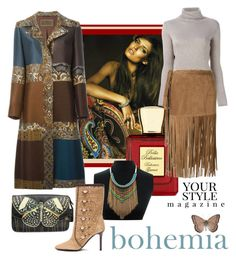 """The natural Earth Colors of Bohemia with fringe"" by linda-caricofe ❤ liked on Polyvore featuring Bohemia, Etro, Bella Bellissima, P.A.R.O.S.H., Tamara Mellon, Pussycat, women's clothing, women's fashion, women and female"