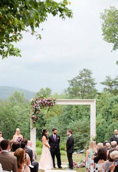 A Wedding Ceremony Backdrop Idea to Obsess Over: Oversized Picture Frames