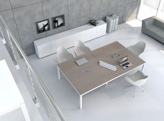 Table de réunion / rectangulaire / contemporaine / en chêne IMPULS MDD