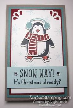 """Snow Place """"Snow Way"""" Magnetic Note Pad.  #stockingstuffers #gifts #stampinup"""