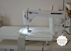 I'm so excited to show off something fun today... my new Juki 2010Q! I  first tried this machine over a year ago at Quilt Market 2012. I was  impressed, but at the time I wasn't quilting very much and my Bernina 1530  had everything I thought I could ever want in a sewing machine.